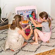 """""""ЛЮКС МИНИ New"""" кукольный домик NestWood для Барби, без мебели, розовый, фото 6"""