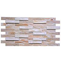 Пластиковая Декоративная Панель ПВХ дерево ДУБ БЕЛЕННЫЙ (980X480) мм