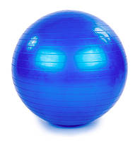 🔝 Фитбол, мяч для фитнеса (d-65 см, голубой) фитнес-шар гимнастический с насосом (фітбол)   🎁%🚚