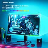 Светодиодная лента RGB Baseus USB Colorful Electronic Sports Game Light Strip, черная, фото 6