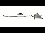 Резонатор (средний глушитель) Ниссан X-трейл (Nissan X-Trail) 2.0 3/2007 (15.19) - Polmostrow