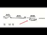 Резонатор Фольксваген Гольф VI (Volkswagen Golf VI) 1.4 TSi 07 (30.630) Polmostrow алюминизированный