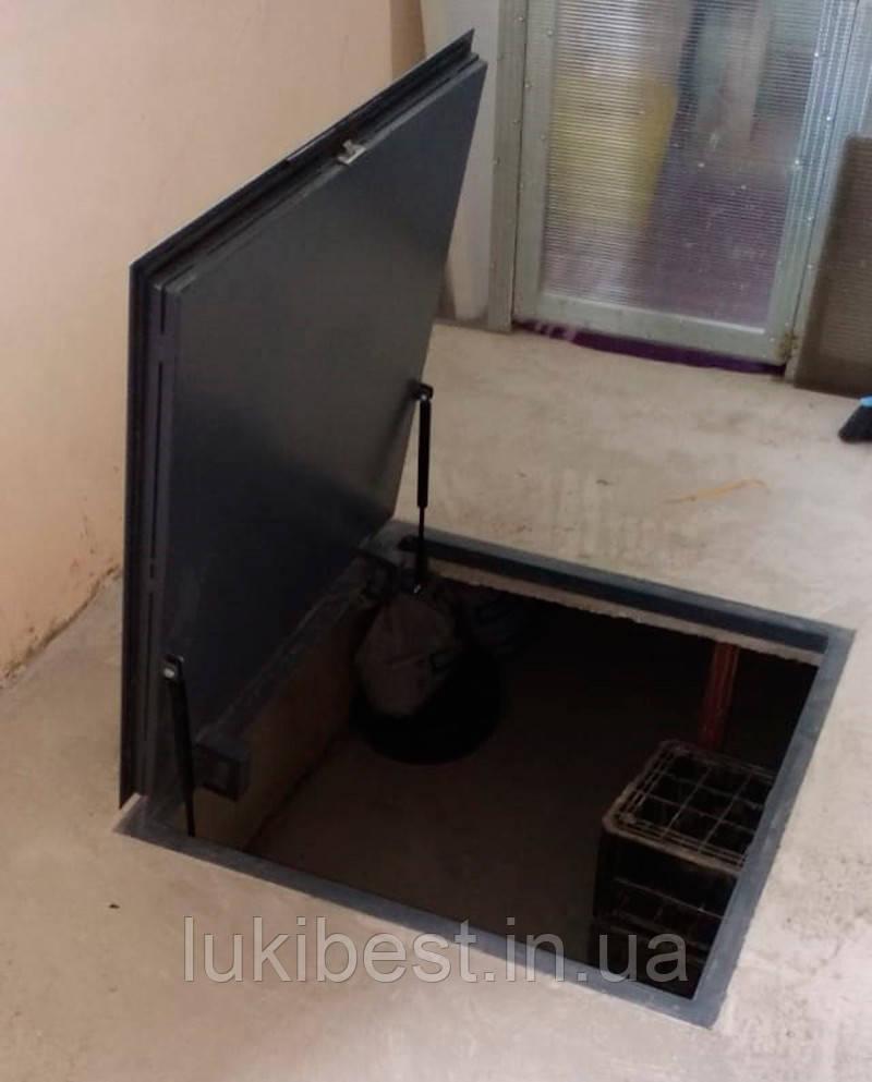 Напольный люк под плитку 700*1200 мм Вest Lift -Утепленный / люк в погреб/ люк в подвал