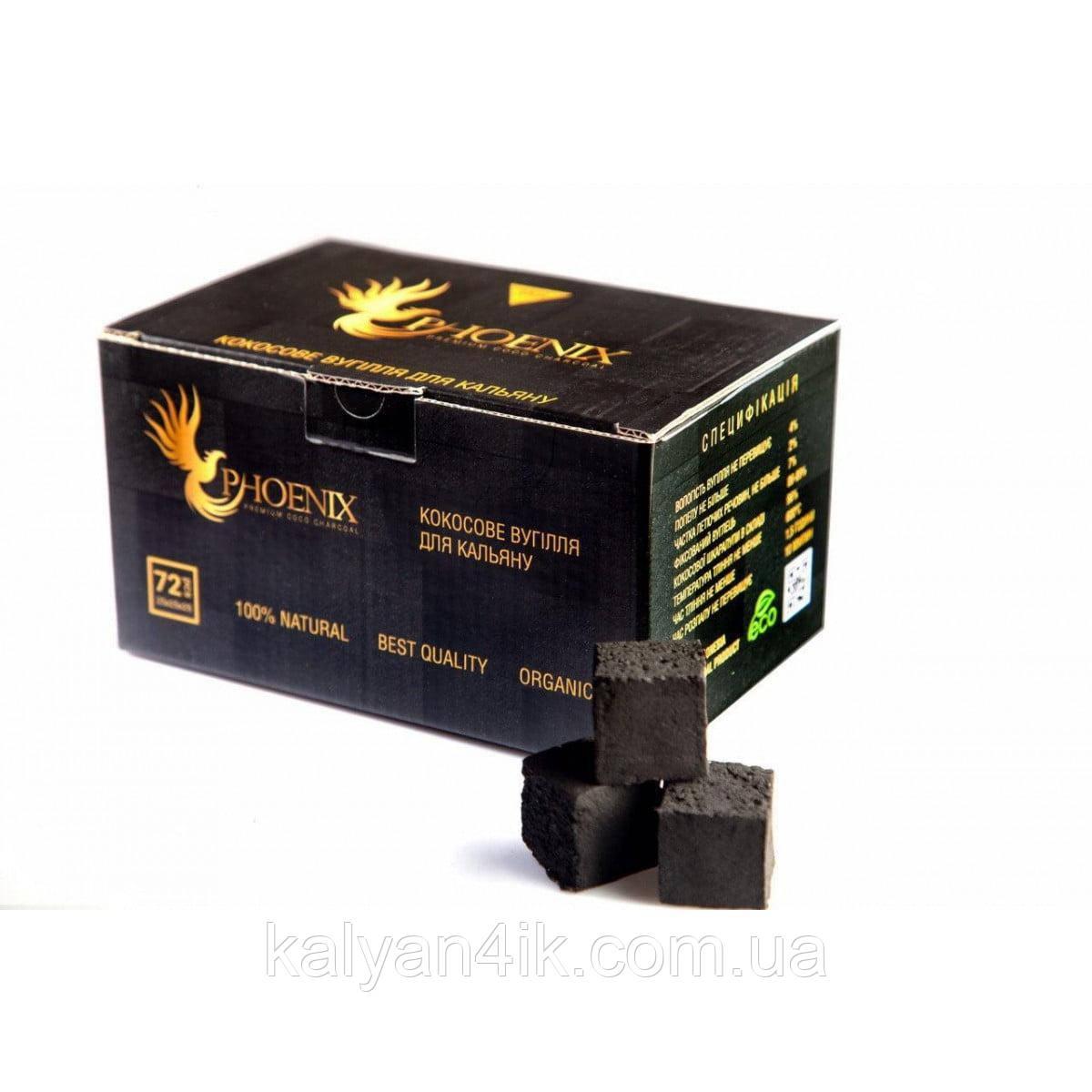 Уголь Phoenix 25й кубик 1кг в упаковке