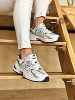 Кроссовки New balance 530 кроссы белые унисекс. Удобная летняя обувь для мужчин и женщин Нью Баланс 530.