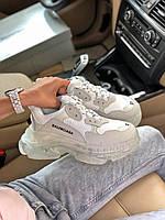 Кроссы унисекс BALENCIAGA Triple S. Удобная обувь для мужчин и женщин Баленсиага Трипл. Кроссовки для фитнеса