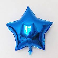 """Кулька фольгований """"синя Зірка"""" діаметр 9"""" 22 см 1848"""