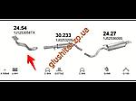 Труба коллекторная без катализатора Шкода Окавиа (Skoda Octavia) 1.6i 02/97-09/04 75kW (24.54) Polmostrow