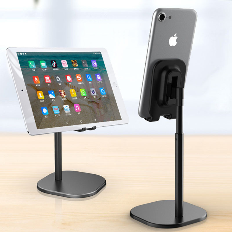 Универсальный держатель подставка для мобильного телефона и планшета Desktop support Metal Hoco Черный