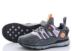 Детские кроссовки на липучках, размеры 31-36, замеры в описании (Серые)