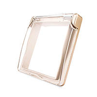 Крышка для розетки Livolo IP44 золото (C7-1WF-13), фото 1
