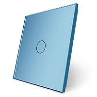 Сенсорная панель выключателя Livolo (1) голубой стекло (VL-C7-C1-19), фото 1