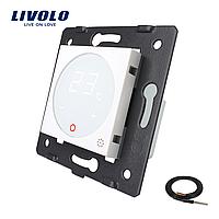 Механізм терморегулятор Livolo з датчиком температури підлоги білий (VL-C7-01TM2-11)