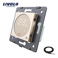 Механізм терморегулятор Livolo з датчиком температури підлоги золото (VL-C7-01TM2-13)