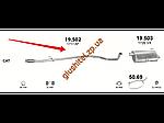 Труба середня Пежо 206 (Peugeot 206) 1.6 HDi 04 - 07 (19.502) Polmostrow алюминизированный