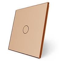 Сенсорная панель выключателя Livolo (1) золото стекло (VL-C7-C1-13)