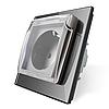 Розетка с крышкой IP44 Livolo серый стекло (VL-C7C1EUWF-15)