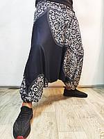 Мужские брюки с мотней черные алладины хиппи модные