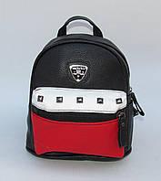 Женский молодежный рюкзачек черный цвет