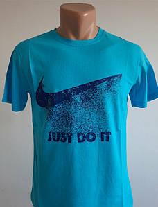 Мужская спортивная футболка голубая