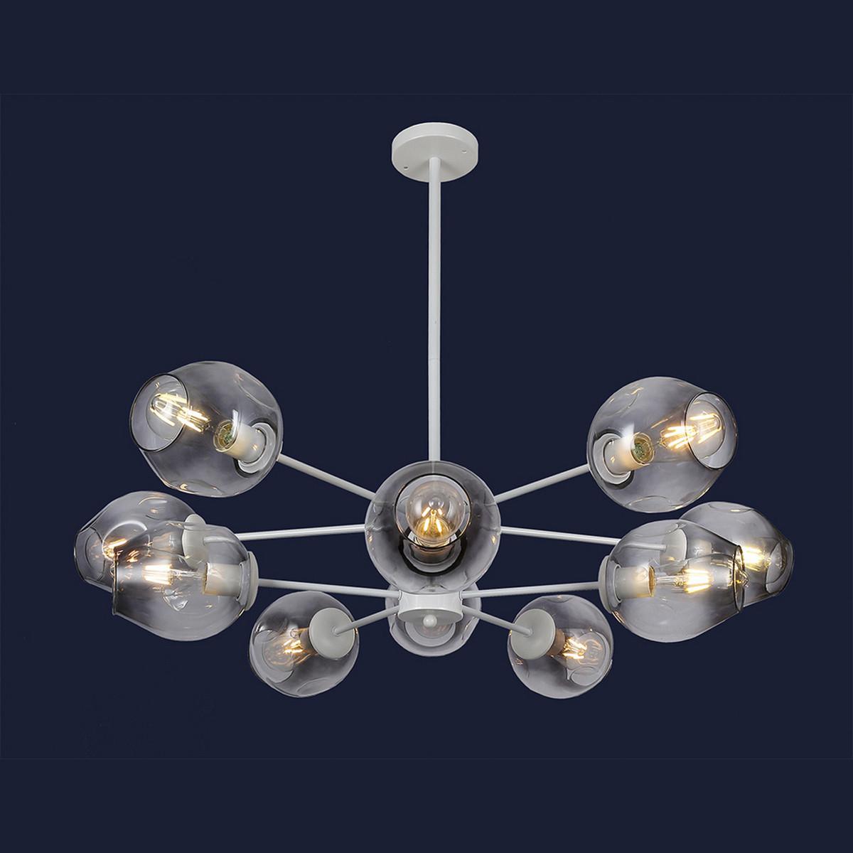 Современная люстра в стиле Loft с шариками цвет белый Levistella&7526035-10 WH+BK