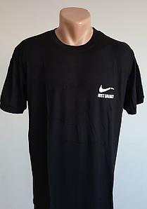 Мужская спортивная футболка черного цвета 52-58