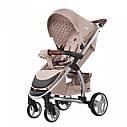 Универсальная детская коляска бежевая Carrellо Vista 2 в 1 люлька чехол на ножки матрасик сумка дождевик, фото 3