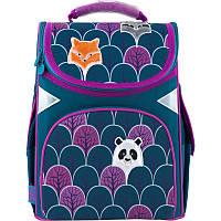 Рюкзак школьный для 1 класса GoPack Education каркасный 5001-4 Magic forest для девочек
