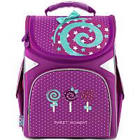 Рюкзак школьный для 1 класса GoPack Education каркасный 5001-8 Lollipop для девочек
