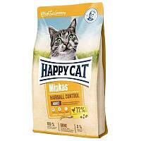 Happy Cat (Хэппи Кэт) Minkas Hairball Control - Сухой корм для взрослых кошек с птицей, 10кг
