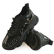 Кросівки жіночі сітка чорні Artin