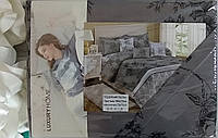 Комплект постельного белья евро размер мягкий сатин  Luxury Home ,Classic