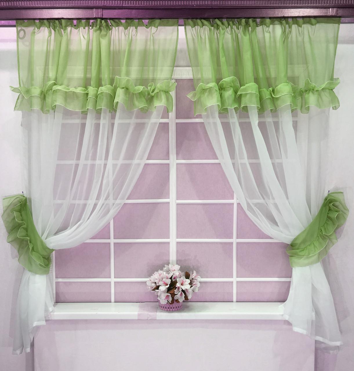 """Кухонные шторы """"Люсси"""" Трава"""