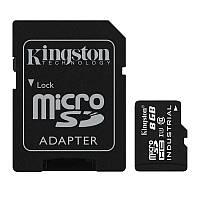 Карта памяти MicroSDHC 8GB UHS-I Class 10 Kingston Industrial Temperature + SD адаптер (SDCIT/8GB)