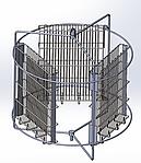 Медогонка 3-х рам поворотная алюмоцинковая (под рамки Дадан), фото 5