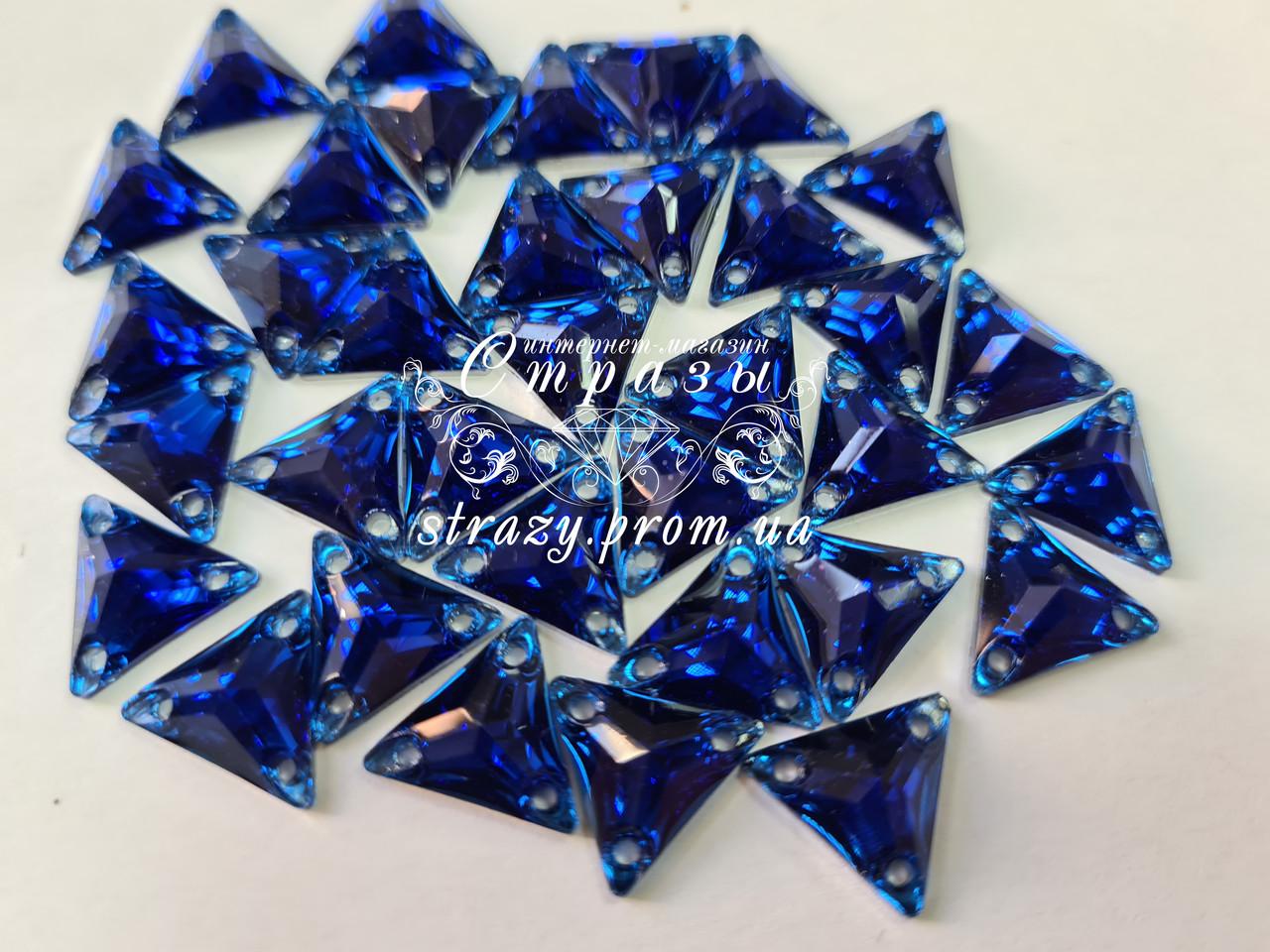 Стразы пришивные Треугольники 12мм. Акрил Sapphire