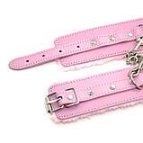 Гламурные наручники с мехом розового цвета, фото 4