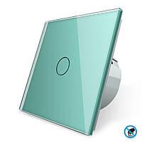Бесконтактный выключатель Livolo зеленый стекло (VL-C701PRO-18), фото 1
