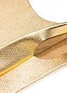 ЗОЛОТАЯ АВОСЬКА из натуральной кожи - кожаная сумка-пакет женская мужская шоппер унисекс. Авоська-огонь!, фото 4