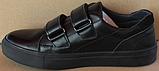 Кроссовки детские на липучках черные от производителя модель СЛТ05, фото 3