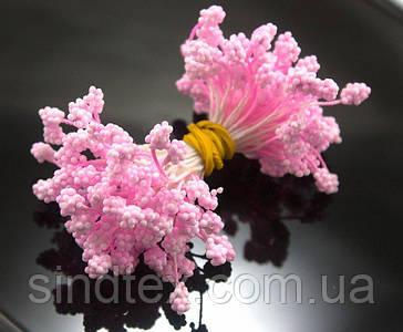 Тычинки-шишечки (1800шт) 900шт двухстор. ниток, 5х3мм головка , Розовый нежный (сп7нг-2739)