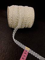 Полубусины на нитях с перламутром цвет Айвори 15мм для свадебного декора, скрапбукинга, декора альбомов