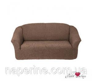 АКЦИЯ!!! Чехол на 3-х местный диван без оборки коричневый
