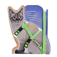 Амуниция для кошек и котов капрон, цвета микс