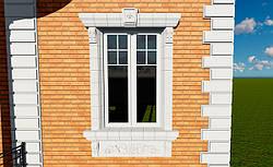 Современные подоконники и обрамления на фасадах домов