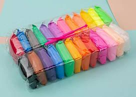 Детский разноцветный набор воздушного пластилина для творчества с инструментами Metr+ 24 цветов