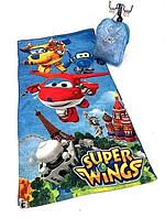 Детский рюкзак-набор  Super Wings для пляжа (полотенце, плавки, бейсболка)
