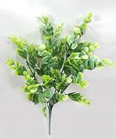 """Самшит королівський із присипкою"""" 33см штучний кущ декоративної зелені, фото 1"""