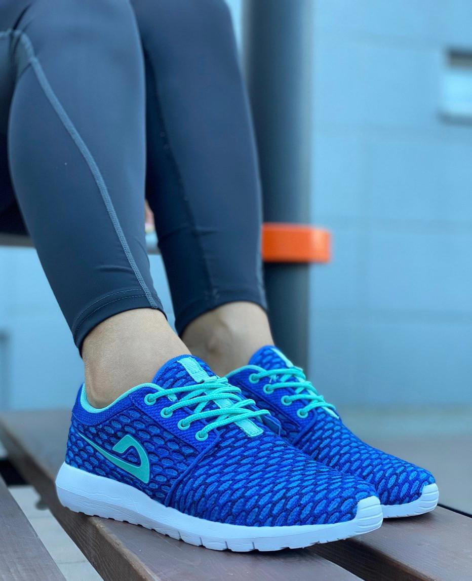 Кросівки жіночі (ПІНА) 8 пар в ящику синього кольору 36-41