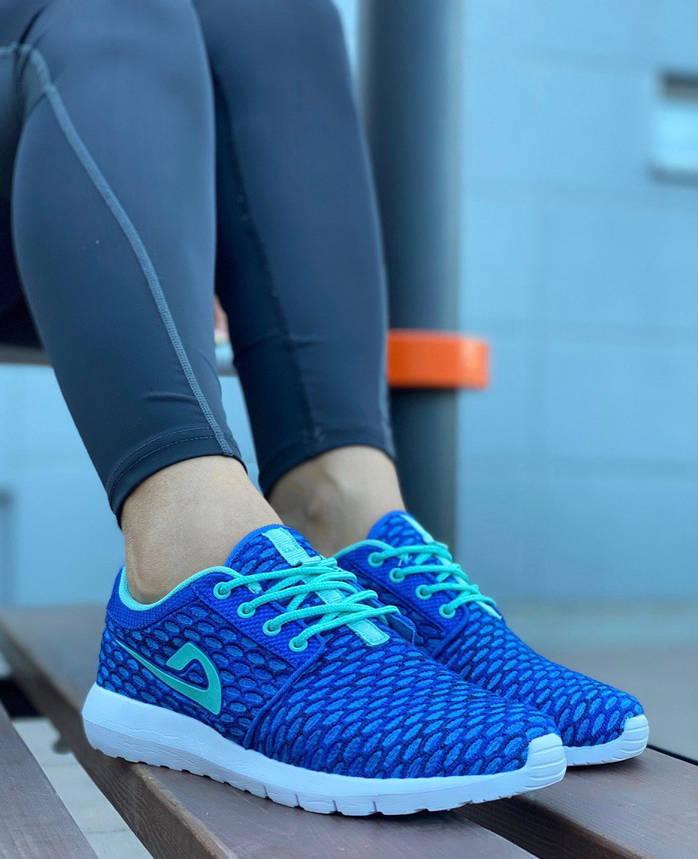 Кросівки жіночі (ПІНА) 8 пар в ящику синього кольору 36-41, фото 2